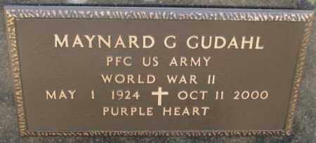 GUDAHL, MAYNARD G. (WW II) - Yankton County, South Dakota   MAYNARD G. (WW II) GUDAHL - South Dakota Gravestone Photos