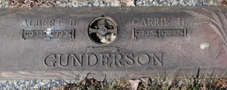 GUNDERSON, CARRIE H. - Yankton County, South Dakota | CARRIE H. GUNDERSON - South Dakota Gravestone Photos