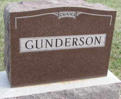 GUNDERSON, FAMILY STONE - Yankton County, South Dakota | FAMILY STONE GUNDERSON - South Dakota Gravestone Photos