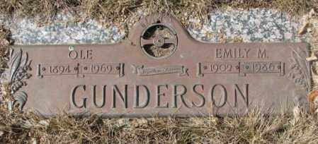 GUNDERSON, EMILY M. - Yankton County, South Dakota | EMILY M. GUNDERSON - South Dakota Gravestone Photos