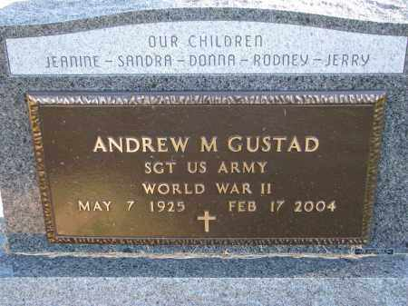 GUSTAD, ANDREW M. (WW II) - Yankton County, South Dakota | ANDREW M. (WW II) GUSTAD - South Dakota Gravestone Photos