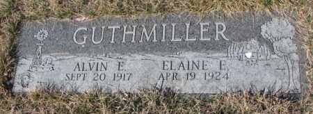 GUTHMILLER, ELAINE E. - Yankton County, South Dakota | ELAINE E. GUTHMILLER - South Dakota Gravestone Photos