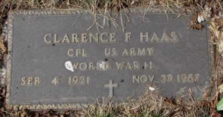 HAAS, CLARENCE F. (WW II) - Yankton County, South Dakota | CLARENCE F. (WW II) HAAS - South Dakota Gravestone Photos