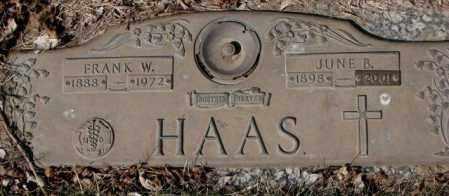HAAS, FRANK W. - Yankton County, South Dakota | FRANK W. HAAS - South Dakota Gravestone Photos