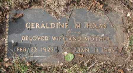 HAAS, GERALDINE M. - Yankton County, South Dakota   GERALDINE M. HAAS - South Dakota Gravestone Photos