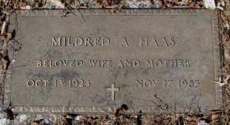 HAAS, MILDRED A. - Yankton County, South Dakota | MILDRED A. HAAS - South Dakota Gravestone Photos