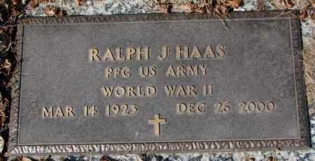 HAAS, RALPH J. (WW II) - Yankton County, South Dakota   RALPH J. (WW II) HAAS - South Dakota Gravestone Photos