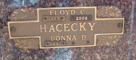 HACECKY, FLOYD C. - Yankton County, South Dakota | FLOYD C. HACECKY - South Dakota Gravestone Photos