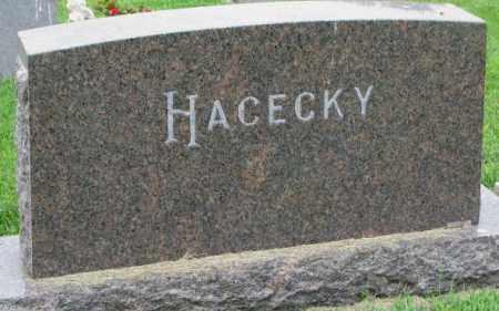 HACECKY, PLOT - Yankton County, South Dakota | PLOT HACECKY - South Dakota Gravestone Photos
