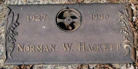 HACKETT, NORMAN W. - Yankton County, South Dakota | NORMAN W. HACKETT - South Dakota Gravestone Photos
