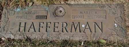 HAFFERMAN, ARCHIE - Yankton County, South Dakota | ARCHIE HAFFERMAN - South Dakota Gravestone Photos
