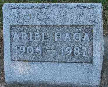 HAGA, ARIEL - Yankton County, South Dakota | ARIEL HAGA - South Dakota Gravestone Photos