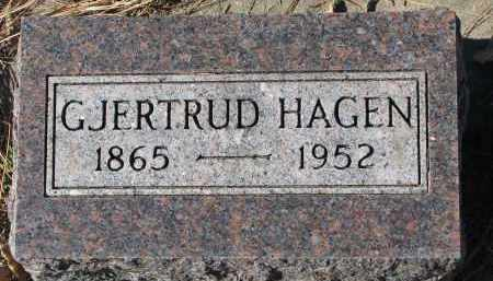 HAGEN, GJERTRUD - Yankton County, South Dakota | GJERTRUD HAGEN - South Dakota Gravestone Photos