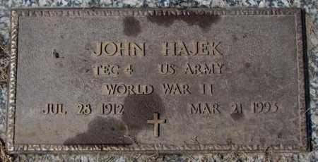HAJEK, JOHN (WW II) - Yankton County, South Dakota   JOHN (WW II) HAJEK - South Dakota Gravestone Photos