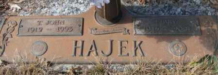 HAJEK, T. JOHN - Yankton County, South Dakota | T. JOHN HAJEK - South Dakota Gravestone Photos