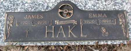 HAKL, JAMES - Yankton County, South Dakota | JAMES HAKL - South Dakota Gravestone Photos