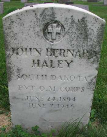 HALEY, JOHN BERNARD - Yankton County, South Dakota | JOHN BERNARD HALEY - South Dakota Gravestone Photos