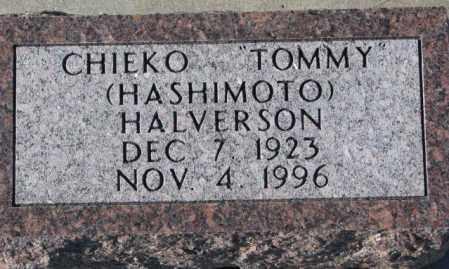"HASHIMOTO HALVERSON, CHIEKO ""TOMMY"" - Yankton County, South Dakota | CHIEKO ""TOMMY"" HASHIMOTO HALVERSON - South Dakota Gravestone Photos"