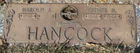 HANCOCK, HAROLD A. - Yankton County, South Dakota | HAROLD A. HANCOCK - South Dakota Gravestone Photos
