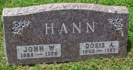 HANN, JOHN W. - Yankton County, South Dakota | JOHN W. HANN - South Dakota Gravestone Photos