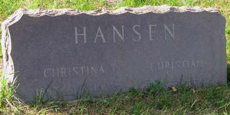 HANSEN, CHRISTINA - Yankton County, South Dakota | CHRISTINA HANSEN - South Dakota Gravestone Photos