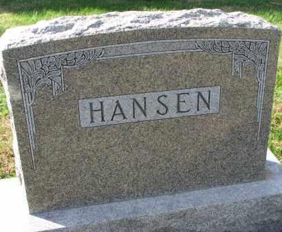 HANSEN, FAMILY STONE - Yankton County, South Dakota   FAMILY STONE HANSEN - South Dakota Gravestone Photos