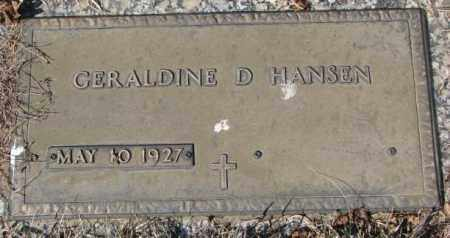 HANSEN, GERALDINE D. - Yankton County, South Dakota | GERALDINE D. HANSEN - South Dakota Gravestone Photos