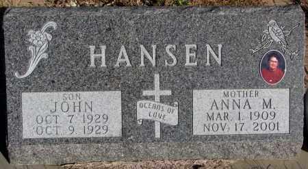 HANSEN, ANNA M. - Yankton County, South Dakota | ANNA M. HANSEN - South Dakota Gravestone Photos