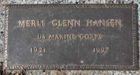 HANSEN, MERLE GLENN - Yankton County, South Dakota | MERLE GLENN HANSEN - South Dakota Gravestone Photos