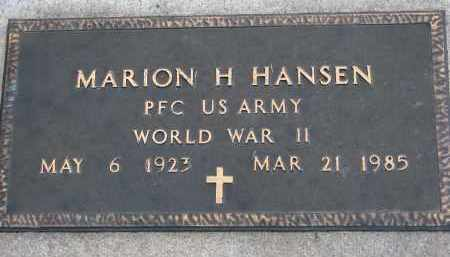 HANSEN, MARION H. (WW II) - Yankton County, South Dakota | MARION H. (WW II) HANSEN - South Dakota Gravestone Photos