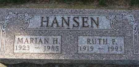 HANSEN, RUTH P. - Yankton County, South Dakota | RUTH P. HANSEN - South Dakota Gravestone Photos
