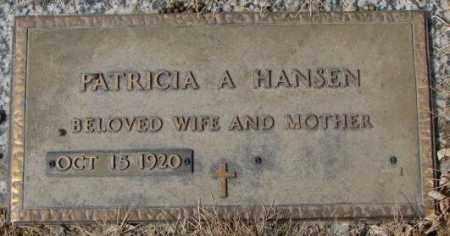 HANSEN, PATRICIA A. - Yankton County, South Dakota | PATRICIA A. HANSEN - South Dakota Gravestone Photos