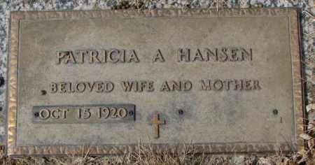 HANSEN, PATRICIA A. - Yankton County, South Dakota | PATRICIA A. HANSEN - South Dakota Gravestone Photos