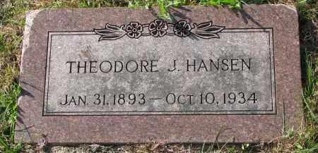 HANSEN, THEODORE J. - Yankton County, South Dakota   THEODORE J. HANSEN - South Dakota Gravestone Photos