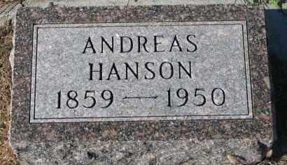 HANSON, ANDREAS - Yankton County, South Dakota | ANDREAS HANSON - South Dakota Gravestone Photos