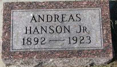 HANSON, ANDREAS JR. - Yankton County, South Dakota | ANDREAS JR. HANSON - South Dakota Gravestone Photos