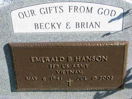 HANSON, EMERALD B. (MILITARY) - Yankton County, South Dakota | EMERALD B. (MILITARY) HANSON - South Dakota Gravestone Photos