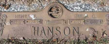HANSON, JULIA G. - Yankton County, South Dakota | JULIA G. HANSON - South Dakota Gravestone Photos