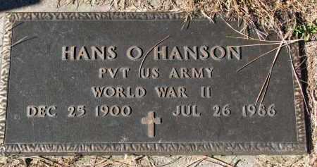 HANSON, HANS O. (WW II) - Yankton County, South Dakota   HANS O. (WW II) HANSON - South Dakota Gravestone Photos