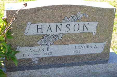 HANSON, LENORA A. - Yankton County, South Dakota | LENORA A. HANSON - South Dakota Gravestone Photos