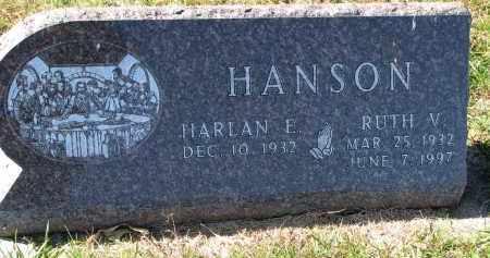 HANSON, RUTH V. - Yankton County, South Dakota   RUTH V. HANSON - South Dakota Gravestone Photos