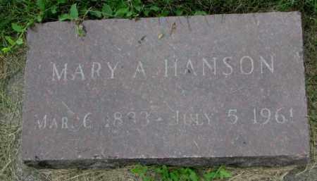 HANSON, MARY A. - Yankton County, South Dakota | MARY A. HANSON - South Dakota Gravestone Photos