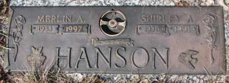 HANSON, SHIRLEY A. - Yankton County, South Dakota | SHIRLEY A. HANSON - South Dakota Gravestone Photos
