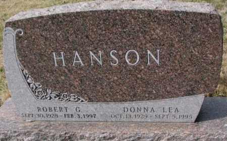 HANSON, DONNA LEA - Yankton County, South Dakota | DONNA LEA HANSON - South Dakota Gravestone Photos