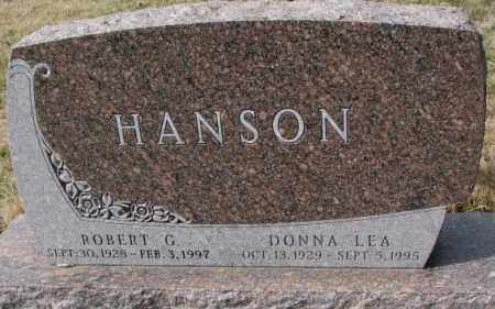 HANSON, ROBERT G. - Yankton County, South Dakota | ROBERT G. HANSON - South Dakota Gravestone Photos