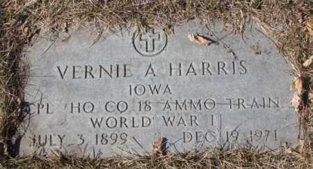 HARRIS, VERNIE A. - Yankton County, South Dakota | VERNIE A. HARRIS - South Dakota Gravestone Photos