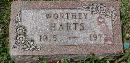 HARTS, WORTHEY - Yankton County, South Dakota | WORTHEY HARTS - South Dakota Gravestone Photos