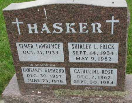 HASKER, CATHERINE ROSE - Yankton County, South Dakota | CATHERINE ROSE HASKER - South Dakota Gravestone Photos