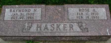 HASKER, ROSE A. - Yankton County, South Dakota | ROSE A. HASKER - South Dakota Gravestone Photos