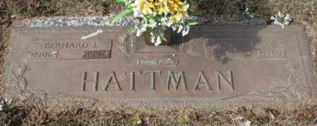 HATTMAN, BERNARD J. - Yankton County, South Dakota | BERNARD J. HATTMAN - South Dakota Gravestone Photos